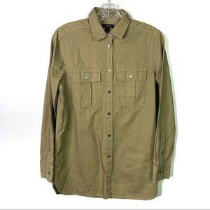 J.Crew Khaki Tan Button Down Shirt Sz 2 B-8